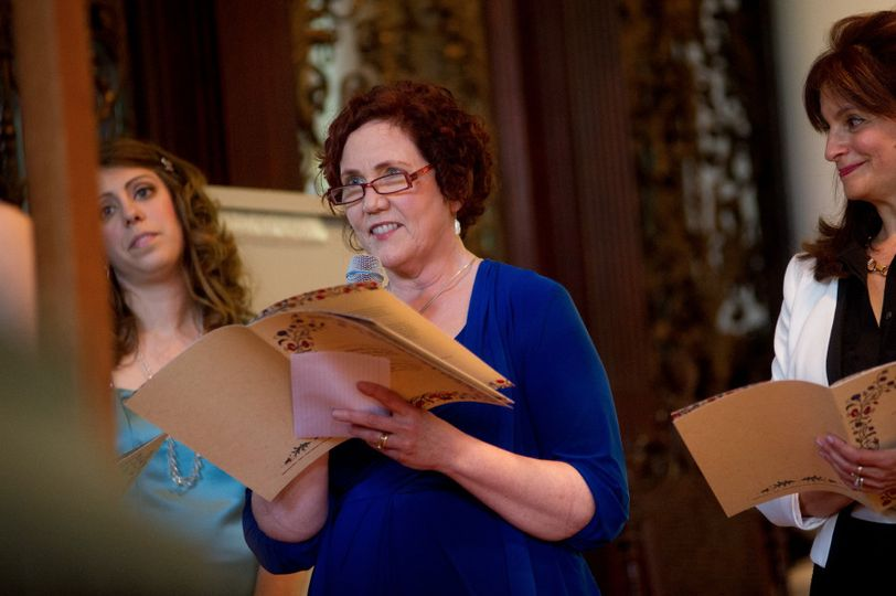 Mary wrote a secular blessing for Jackie and Greg's culturally Jewish wedding at Harvard Memorial...