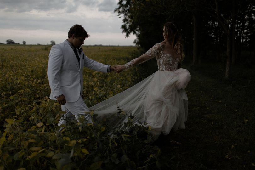 Moody romantic wedding