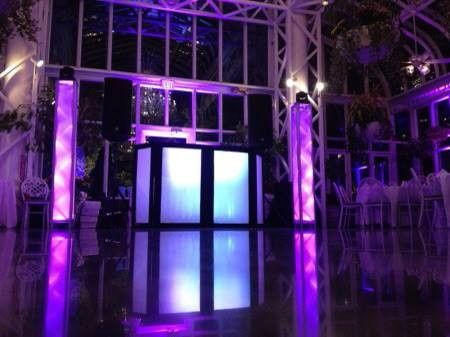Wedding DJ's booth