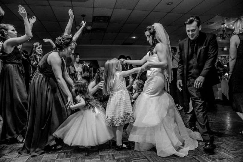 Dancing with the flower girls