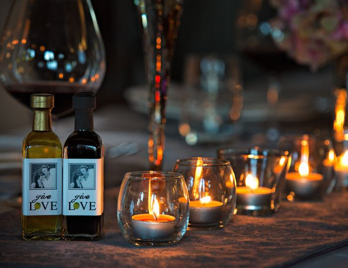 Photo and olive love on labels