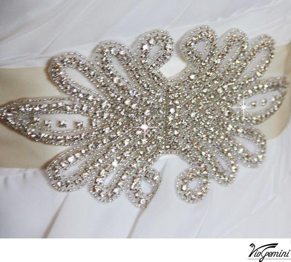 wedding sash rhinestone applique13
