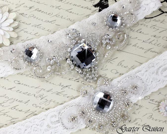bridal garter wedding garter set garterqueen 3