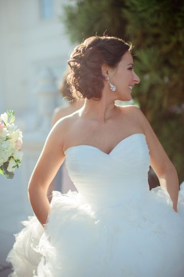 Bride in her white gown