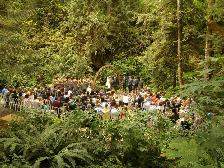 Creekside ceremony/grotto area