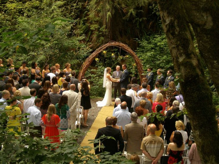 Creekside ceremony area.