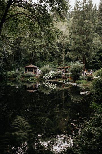 Lakeside reflecting pond