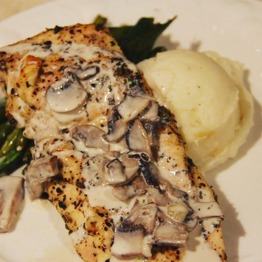 Herb Roasted Chicken Breasts With White Wine Cream Sauce