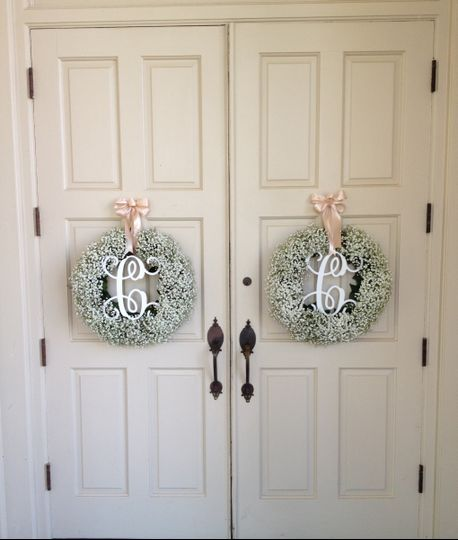 Wreaths on the door