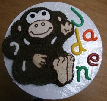 Definitely not a wedding cake, unless you're a monkey. I also do character cakes