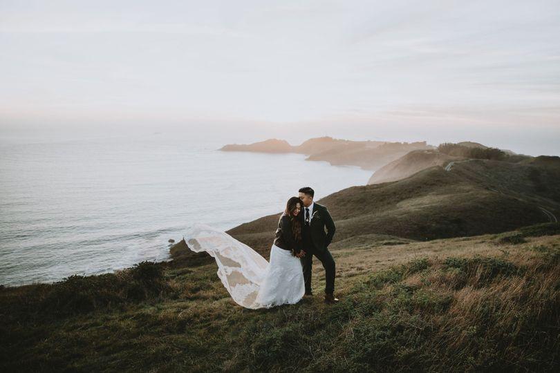 Foggy hilltop elopement