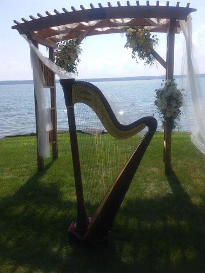 Harp at E.B. Morgan House