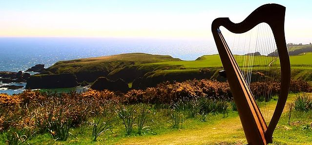 Tmx Harp In Irish Field New 51 105644 Ithaca, New York wedding ceremonymusic