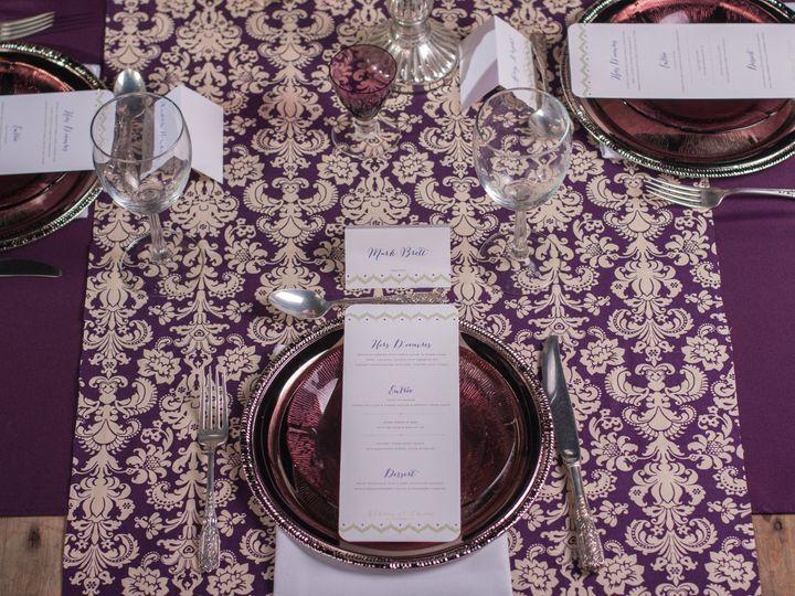 Tmx 1386790478069 Eggplant Table Settin Portland wedding rental