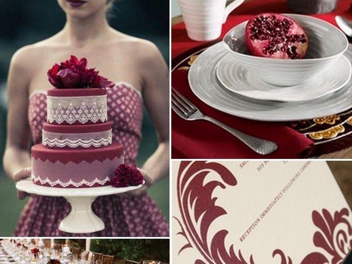 Tmx 1386792802234 Burgundy And White Wedding Inspiration Board  Portland wedding rental