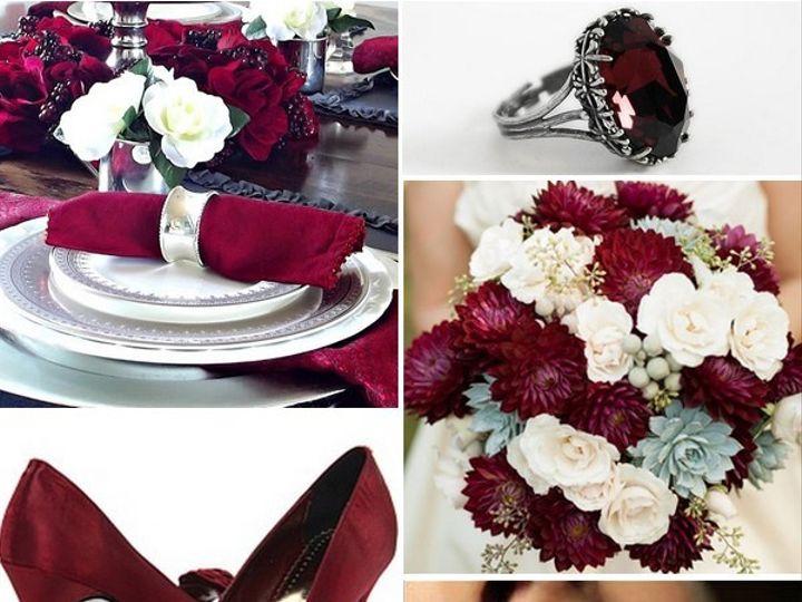 Tmx 1386792807051 Burgundy And White Wedding Inspiration Board  Portland wedding rental