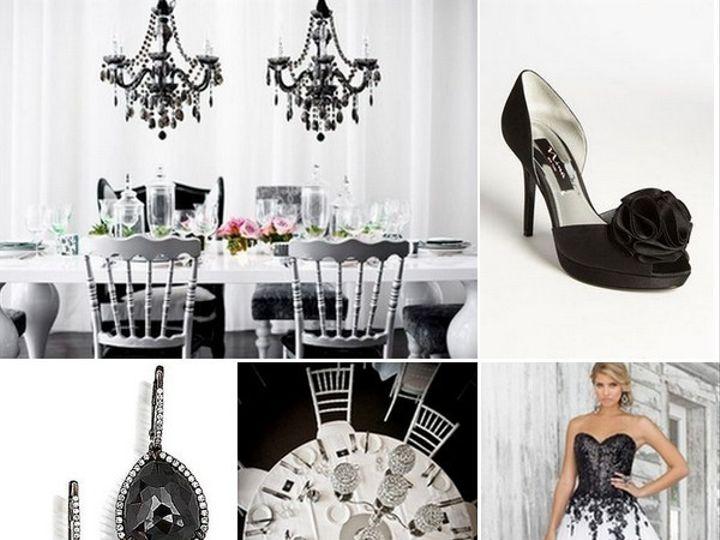 Tmx 1386793012847 Black And White Inspiration Board  Portland wedding rental