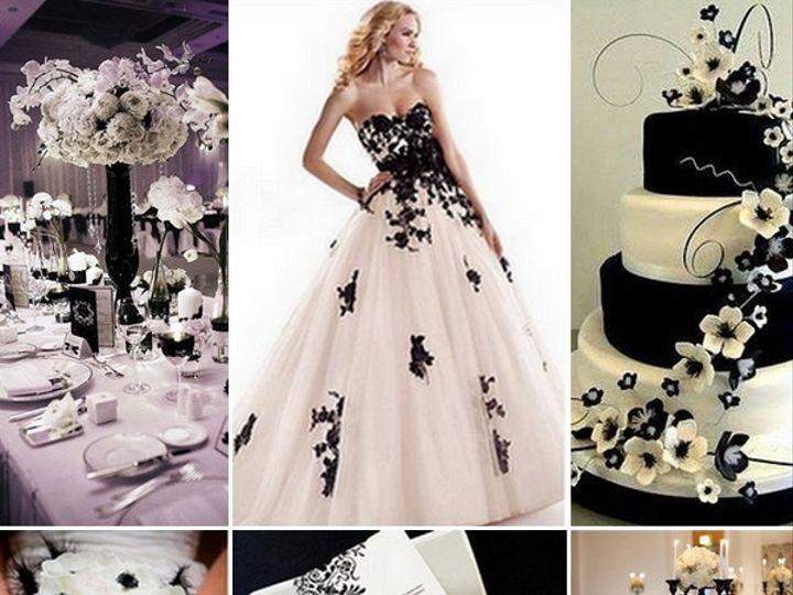Tmx 1386793019368 Black And White Inspiration Board  Portland wedding rental