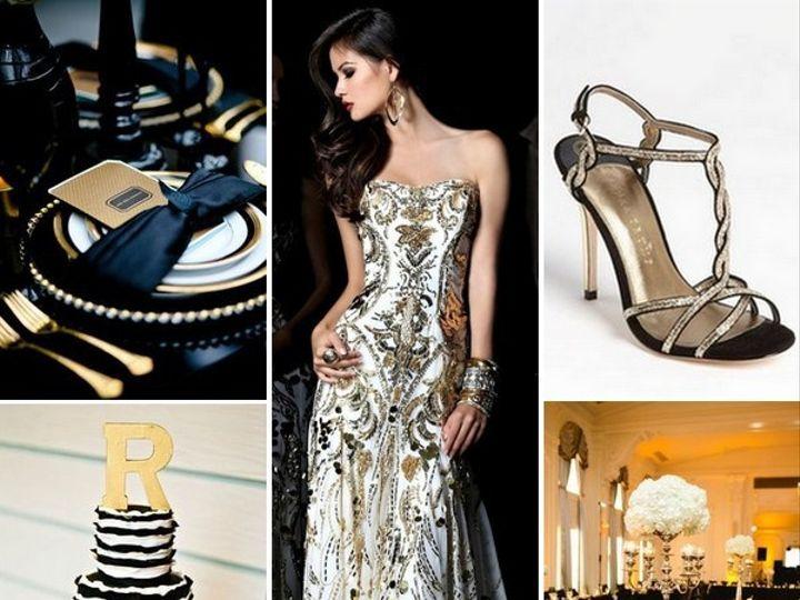 Tmx 1386793104479 Black White And Gold Wedding Inspiration Board  Portland wedding rental