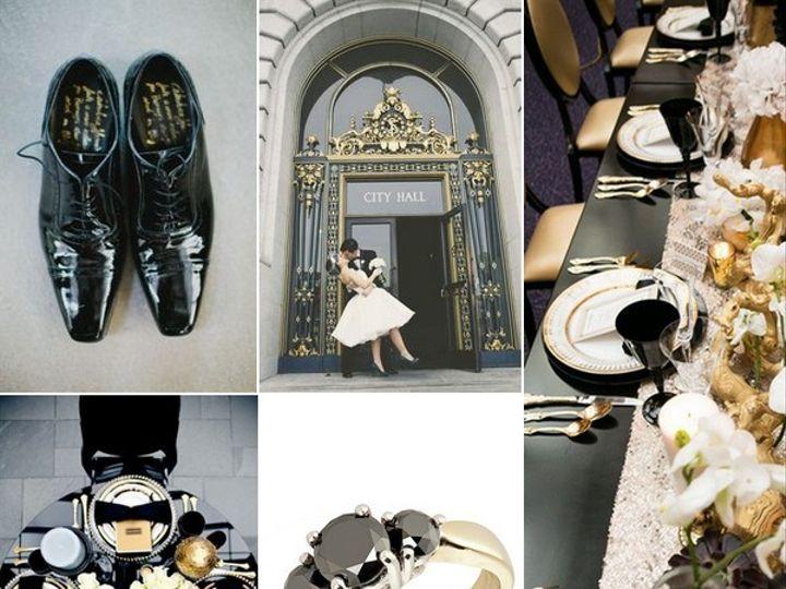 Tmx 1386793108290 Black White And Gold Wedding Inspiration Board  Portland wedding rental
