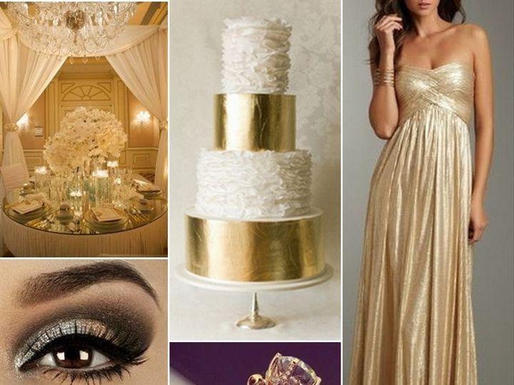 Tmx 1386793156479 Gold And White Wedding Inspiration Board  Portland wedding rental