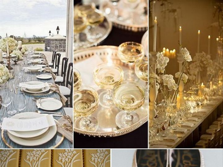 Tmx 1386793159561 Gold And White Wedding Inspiration Board  Portland wedding rental