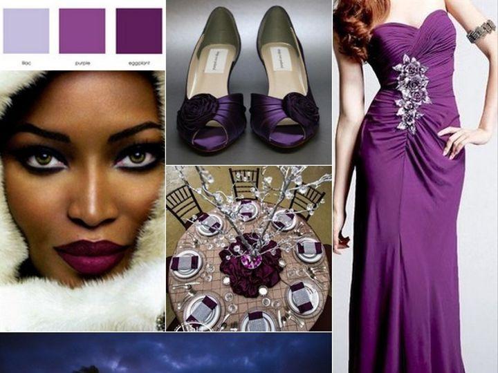 Tmx 1387900698650 Eggplant And Silver Wedding Inspiration Board  Portland wedding rental
