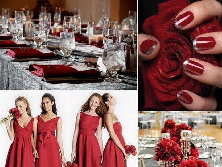 Tmx 1387900839571 Red And Silver Wedding Inspiration Board  Portland wedding rental