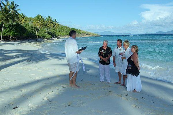 This is a wedding on a deserted island off of St Thomas & St John in the US Virgin Islands.  Get...