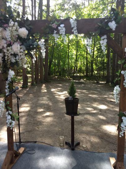 Beautiful wooded setting