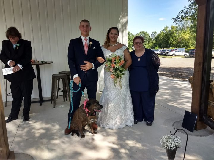 The dog was our ringbearer
