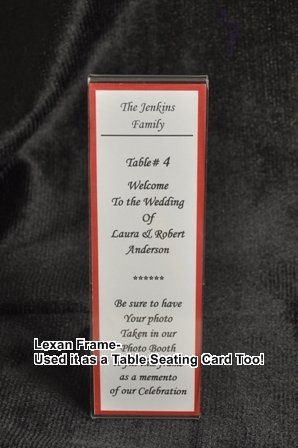 Lexan Place/Seating Card - Makes a great favor - The photo  strip goes into this Frame as a take...