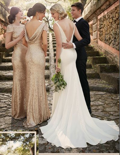 Tmx 1438020025874 Cowl Back Sequin Sorella Vita 2 Burnsville wedding dress