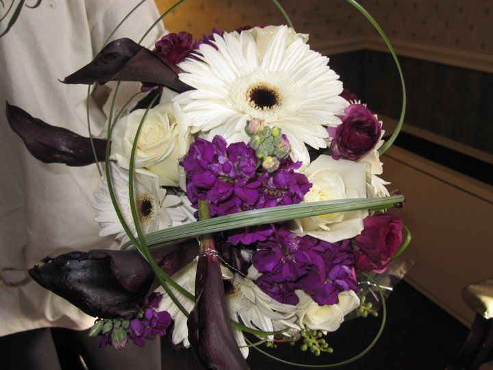 Violet and white flowers