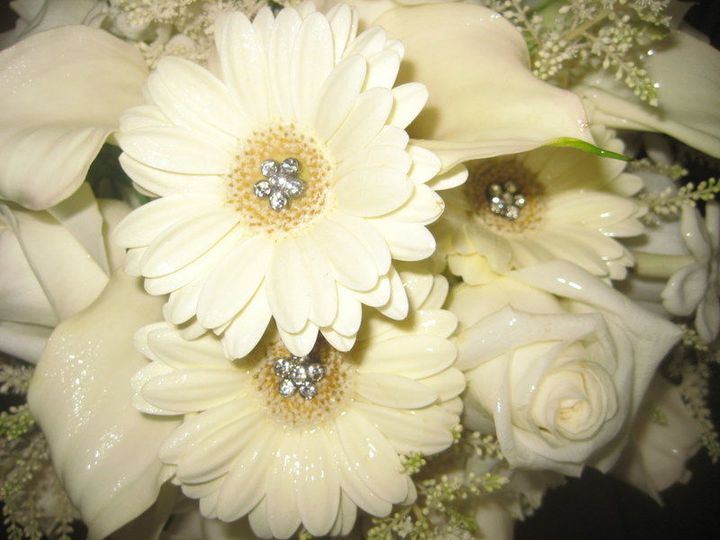 Mix of white flowers