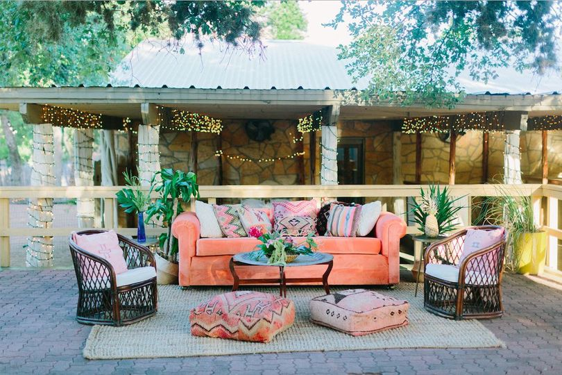 Cypress Falls Event Center Outdoor Lounge