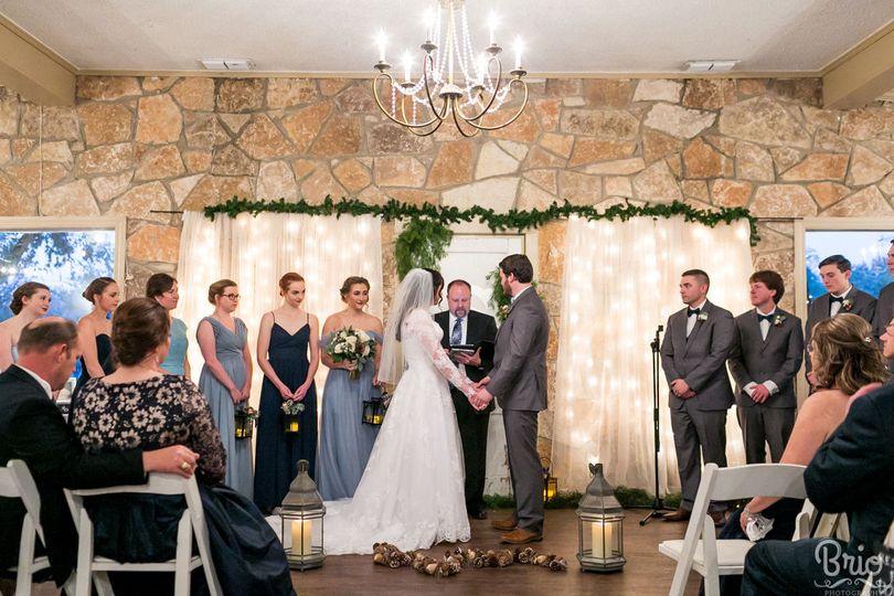 Cypress Falls Can Do Indoor Ceremonies Too! Pictured is the indoor ceremony site.