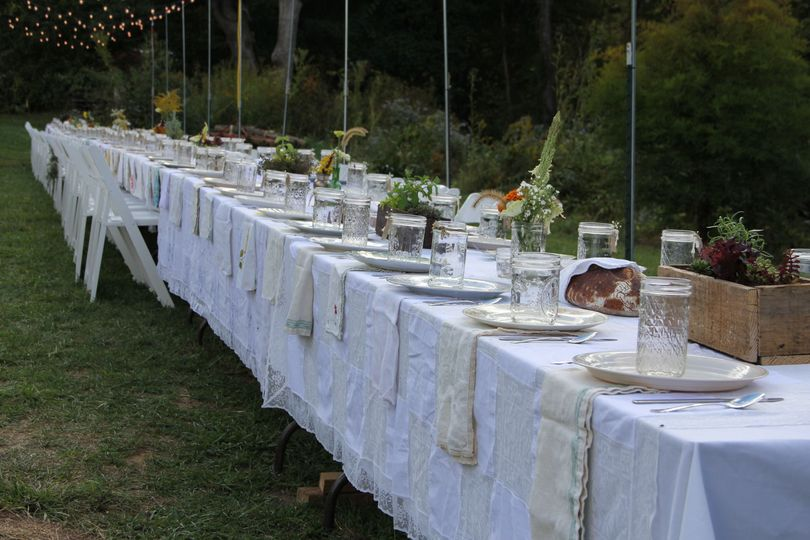 Farm-to-table wedding reception