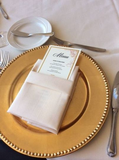 event detective place setting pic