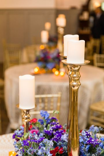 Ballroom table setting