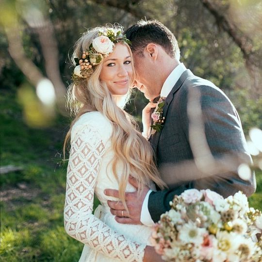 Boho Cotton Lace Original Wedding gown by Betsy Couture