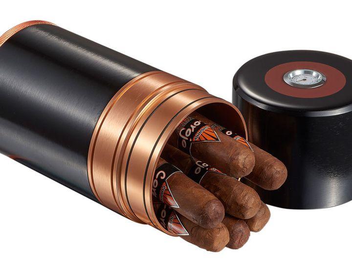 Tmx 1507814010451 Visol Big Joe Travel Cigar Case Black Copper Holds Pittsburgh wedding favor