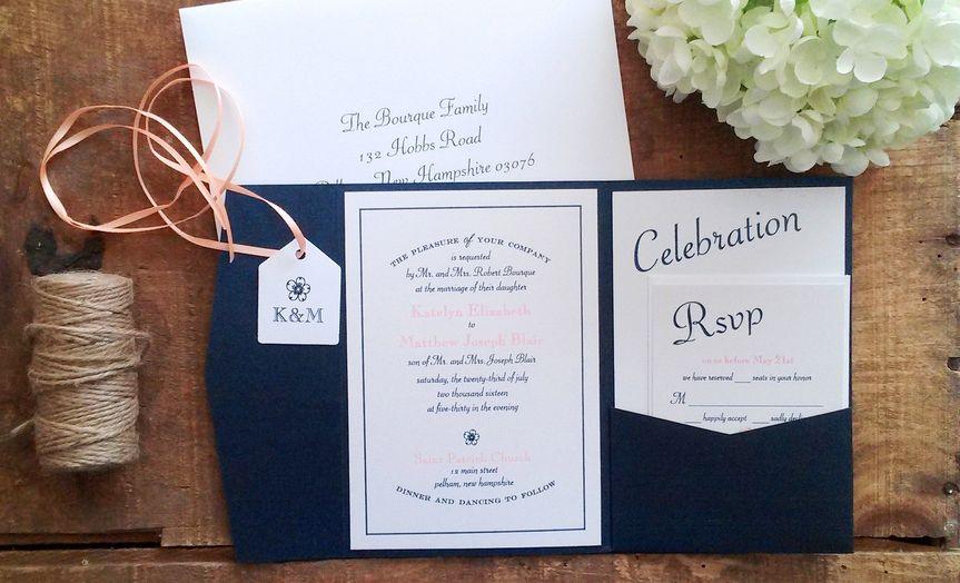 bourque wedding invitation