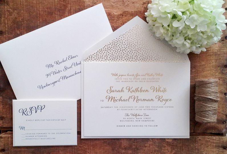 white invitation