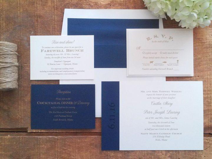 Tmx 1471798481772 Wholey Invitation Merrimack, NH wedding invitation