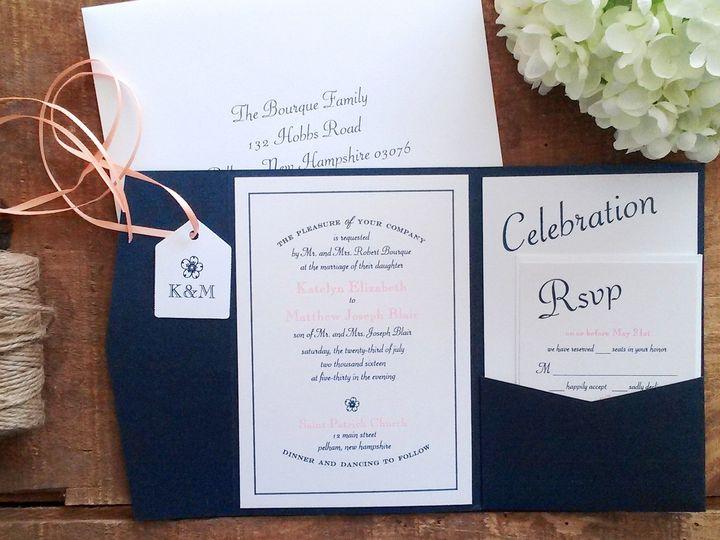 Tmx 1471798505722 Bourque Wedding Invitation Merrimack, NH wedding invitation