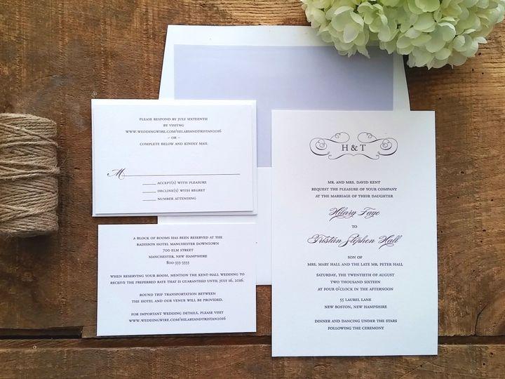 Tmx 1471798587867 Kent Invitation Merrimack, NH wedding invitation