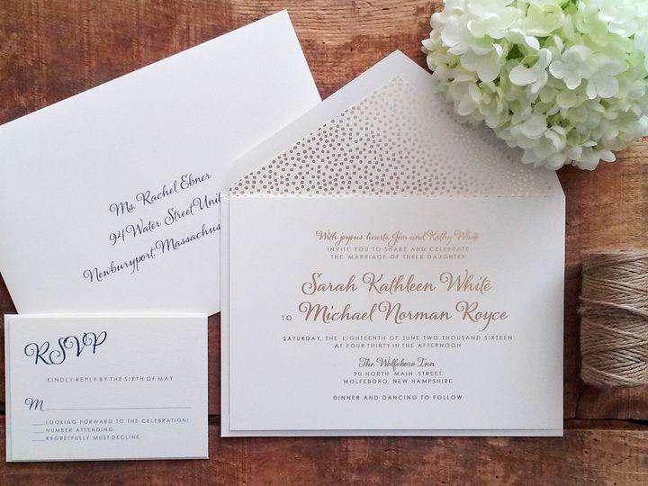 Tmx 1471798607536 White Invitation Merrimack, NH wedding invitation