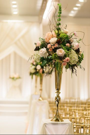 Floral aisle decoration