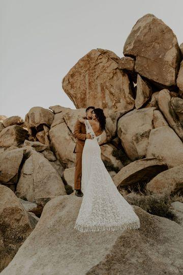 Heather Fringe Lace Dress